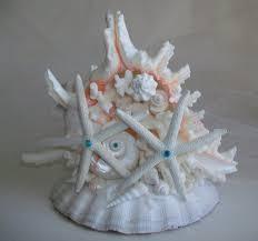 Cake Decorations Beach Theme - large beach theme wedding coral u0026 turquoise cake topper starfish