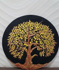 buy the golden tree of handmade painting by pooja lalwani code
