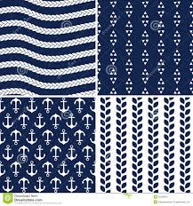 navy blue wrapping paper seamless navy and white nautical patterns stock vector image