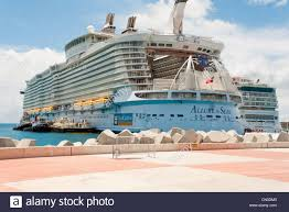 the stern of the largest cruise ship in the world the allure of