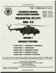mil mi 17 helicopter maintenance manual tm 1 tsmo mi 17 23 1 vol