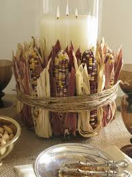 Thanksgiving Table Centerpieces by Indian Corn Centerpiece