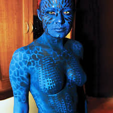 Mystique Halloween Costume Body U0026 Face Painting Halloween Costume Ideas Skincognito Body