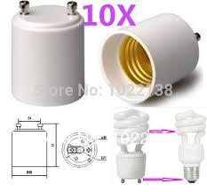 gu24 base led light bulb 10pcs gu24 to e27 e26 led light base l holder adapter convert pin
