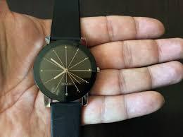 10 bessky black modern fashion quartz wrist with pu