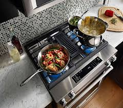 Gas Cooktop With Downdraft Vent 30 Inch 4 Burner Dual Fuel Downdraft Slide In Range Ksdg950ess