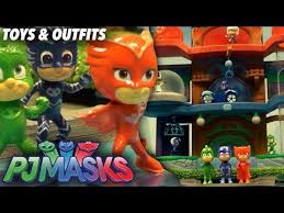 pj masks toy headquarters light figures masks