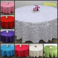 Cheap Table Linen by Wholesale White 2 4 M Wedding Round Table Cloth Overlays 3d Rose
