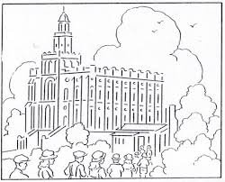mormon history coloring book august temple building 543838