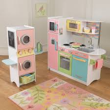 Kitchen Set Kidkraft Uptown Pastel Play Kitchen And Laundry Playset Hayneedle