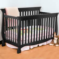 Black 4 In 1 Convertible Crib Storkcraft Carrara 4 In 1 Fixed Side Convertible Crib In Black