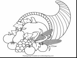 thanksgiving cornucopia coloring pages with free