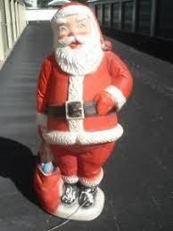 outdoor plastic lighted santa claus vintage lighted christmas santa claus plastic blow mold 5 feet tall