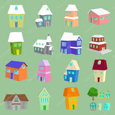 Types Of Houses Pictures List Of Different Types Of Houses U2014 Stock Vector Cowmoo 46587487