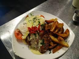 cuisine des cinq sens ribeye steak and eggs picture of cafe cinq sens gatineau