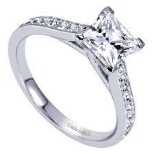 engagement rings princess cut white gold 14k white gold 1 82cttw classic bead set princess cut