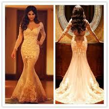 aliexpress com buy mermaid lace appliques wedding dress