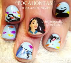 disney princess nails diy pocahontas nail art design tutorial