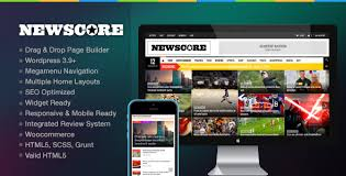 newspaper theme html5 newscore a blog magazine and news theme for wp by qazana
