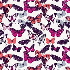 fuchsia modern butterflies fabric by the yard coral fabric