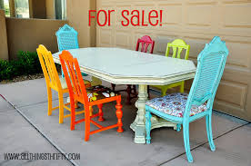 Colored Dining Room Chairs Colorful Dining Room Table Large And Beautiful Photos Photo To