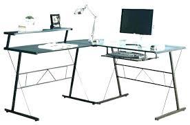 Techni Mobili L Shaped Glass Computer Desk With Chrome Frame Black L Shaped Computer Desk Artsport Me