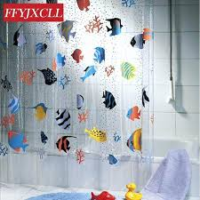 tropical fish shower curtain transpa tropical fish bathroom shower curtain mildew proof thick waterproof fabric bathroom tropical fish shower curtain