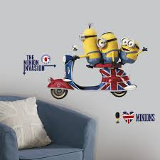 cartoon wall stickers decals sticker shop minions the movie giant wall decals