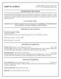 Job Description Of A Phlebotomist On Resume by Resume Financial Cover Letter Cv For A Receptionist Fitzhenry