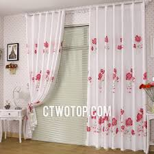red and white bedroom curtains beautiful white and red floral living room and bedroom curtains