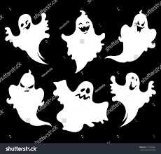 vector ghosts set halloween ghosts design isolated on stock vector 110283602