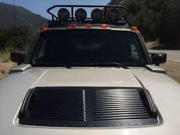 Hood Vents 2006 Hummer H3 Adventure Package With Runcool Hood Louvers Hood