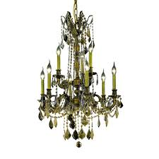 Hampton Bay 9 Light Chandelier Hampton Bay Chester 9 Light Aruba Teak Chandelier Hdp11965 The