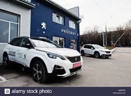 new peugeot cars 2017 kiev ukraine march 22 2017 new peugeot 3008 at car dealership