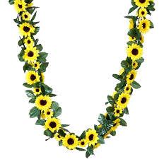 flower garland 6ft yellow artificial sunflower silk flower garland chain wedding