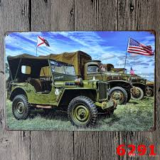 jeep metal art 2017 vintage metal painting world war ii combat aircraft and