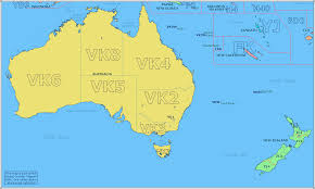 Map Of Oceania Amateur Radio Prefix Map Of Southern Oceania