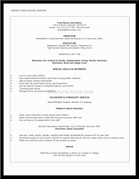 first resume exle for a high student resume require no experience sales no experience lewesmr
