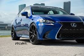 black lexus 2016 ultrasonic blue lexus gs350 fsport velgen wheels vmb8 satin