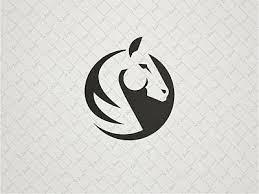 ornamental bull logo white horses logos and