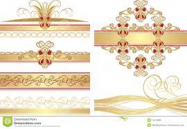 bordes para publisher colección de ornamentos góticos ilustración del vector ilustración