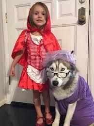 Wolf Halloween Costume Girls Red Riding Hood Costume Wolf Grandma Husky Cute Halloween