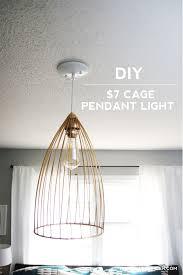 Pendant Light Diy Diy Cage Pendant Light