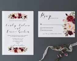 printable wedding invitation template blush navy watercolor