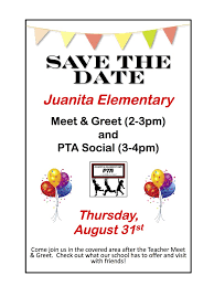 pta meeting invitation juanita elementary pta