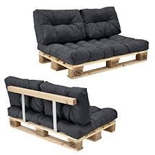 canapé avec palette en casa canapé d angle en palettes coussin gris 2 places avec