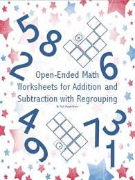 open ended math worksheets for addition and subtraction with