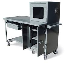Industrial Computer Desks Strong Hold Products Mobile Industrial Computer Desk With Welded