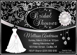 elegant bridal shower invitation damask