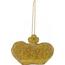 zardozi crown ornament gold craftoutlet